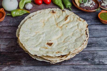 Mexican Tortillas used for Tlayudas in Oaxaca Mexico Фото со стока - 153612535