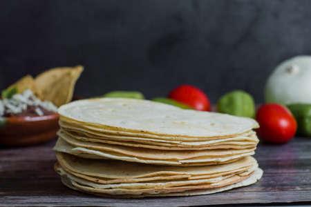 Mexican Tortillas used for Tlayudas in Oaxaca Mexico Фото со стока - 153612538