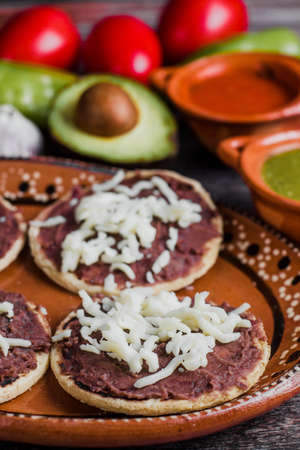 Sopes mexican food traditional from Oaxaca mexico