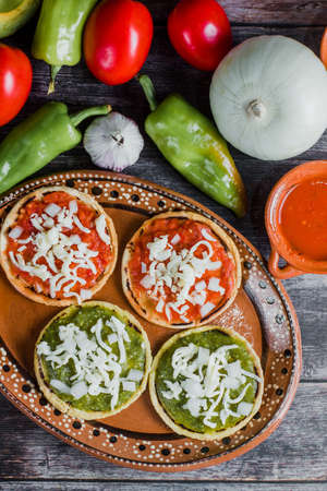 mexcian Sopes handmade traditional food in Mexico