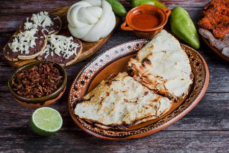 Tlayuda Mexican Traditional Food from Oaxaca Mexico Фото со стока