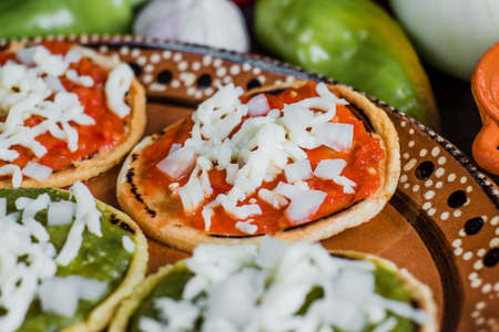 mexican Sopes handmade traditional food in Mexico