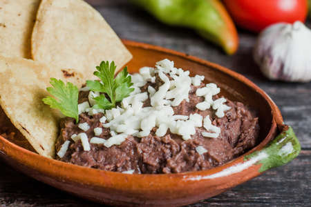 Mexican refried beans in Mexico Фото со стока - 155927676