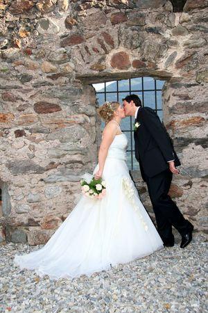 wedding kiss Stock Photo - 2369644