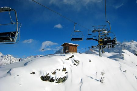 Chairlift in the ski area