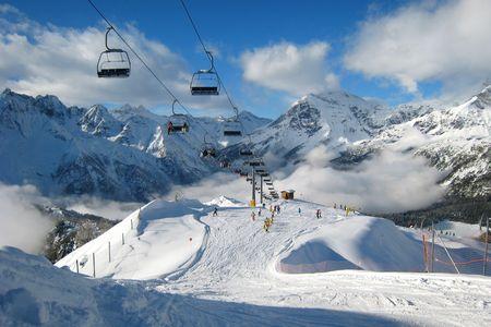 winter landscape, the ski area