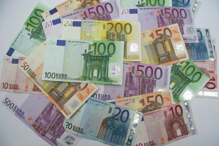 Pile of Euro: 10, 20, 50, 100, 200 and 500 euro Stock Photo - 2403047