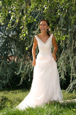 happy bride Stock Photo - 2447632
