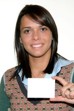 educating: business girl Stock Photo