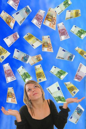 guides: Young Girl with Euro Rain