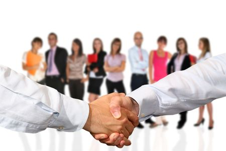 Handshake and team work Stock Photo - 3684386
