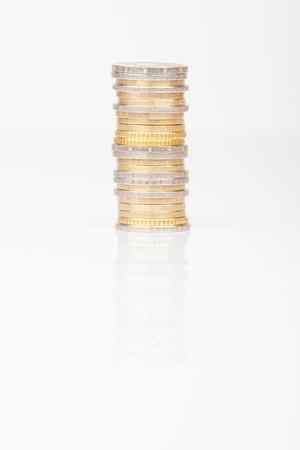 2 50: Euro Coins  0,50, 1 and 2 euro Stock Photo