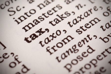defined: Tax Defined Stock Photo