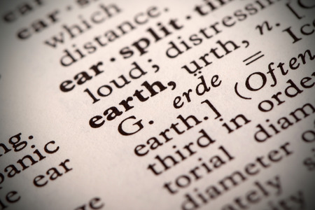 thesaurus: The word  Earth  in a dictionary Stock Photo