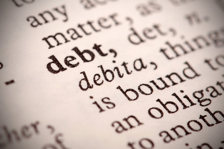 thesaurus:  The word  Debt  in a dictionary