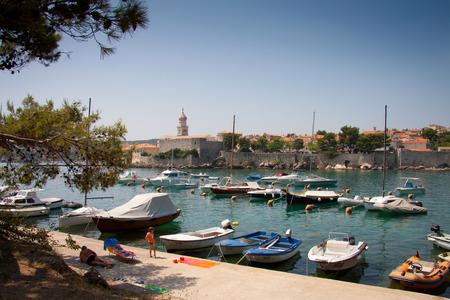krk: Town of Krk, Island of Krk, Croatia, Adriatic Sea