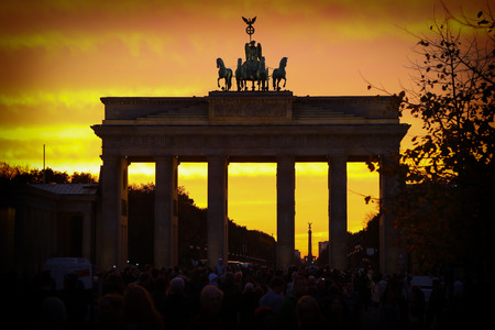 Berlin, Germany. Brandenburger Tor, Pariser Platz Stock Photo