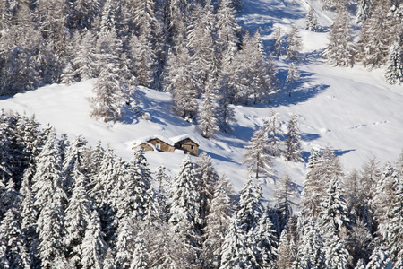 pictoresque: Snowy Mountains in italian alps