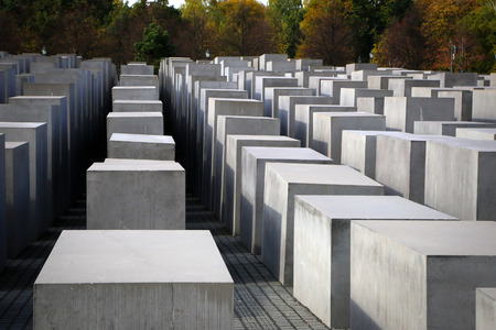 holocaust: The Holocaust Memorial in Berlin, Germany. Editorial