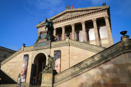 alte: The Alte Nationalgalerie on the Museum Island in Berlin.