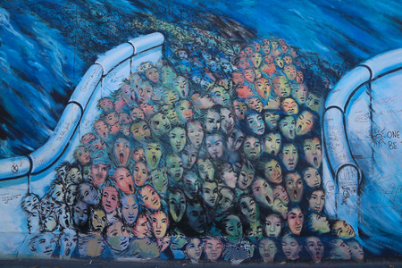 Berlin wall at the east side gallery, berlin, Germany. Editorial