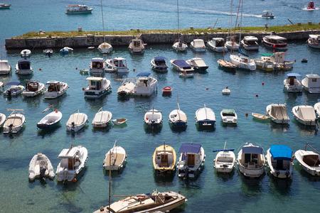 Panoramic view of old port in Dubrovnik, Croatia