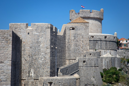 dalmatia: Walls in Old Town of Dubrovnik, Croatia.