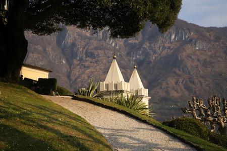 lake como: De Villa Balbianello aan het Comomeer, Italië