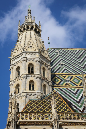 saint stephen cathedral: Photography of St. Stephans cathedral, Vienna, Austria Stock Photo