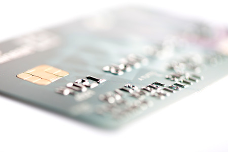 Close up of credit card on a white background Stock Photo