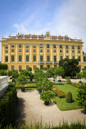 schonbrunn palace: View of Schonbrunn Palace in Vienna, Austria