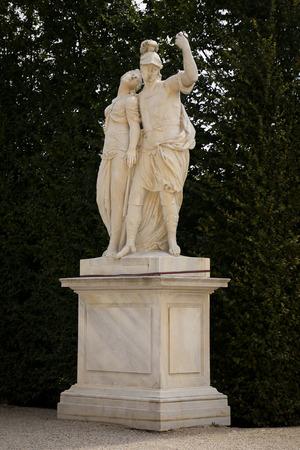 schonbrunn palace: Garden Park of Schonbrunn Palace, Vienna, Austria Stock Photo