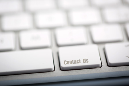 Contact Us on metallic keyboard