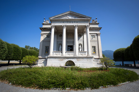 vaulted door: The Volta Temple in Como town, Italy, Stock Photo