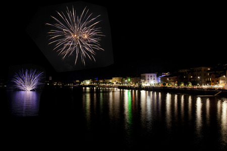 Fireworks of Gravedona, Lake Como, Italy
