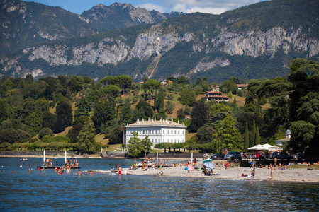 lake como: Lake Como Bellagio in a Summer Day