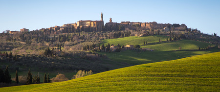 val dorcia: Pienza in Val dOrcia, Siena, Tuscany, Italy
