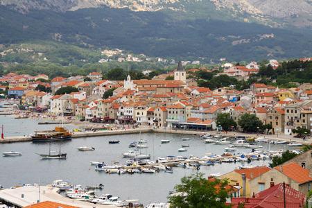 Baska on Island Krk in Croatia, Europe Stock Photo