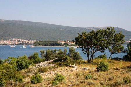 mediterranean countries: Island of krk on the north Adriatic Sea, Croatia. Stock Photo