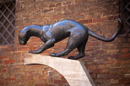 beaten up: District of the panther in Siena. Tuscany, Italy