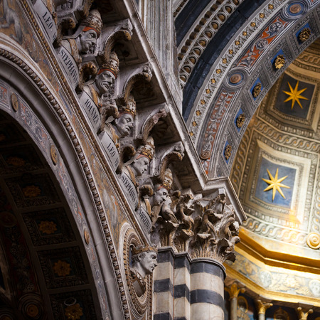 italian architecture: Interior of Siena Cathedral in Tuscany, Italy