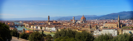 michelangelo: The City of Florence seen from Michelangelo Square Stock Photo
