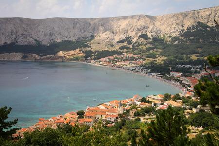 krk: Baska on Mediterranean Sea. Krk Island, Croatia