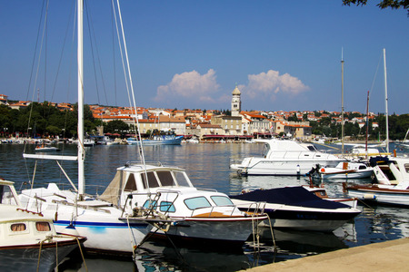 mediterranean countries: View of Old Town of Krk, Croatia Stock Photo