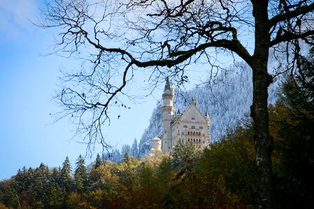neuschwanstein: Neuschwanstein Castle in Baviera, Germany. Autumn Time Editorial