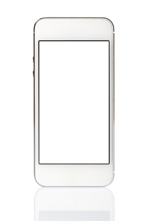 palmtop: White Smart Phone Isolated on White Background