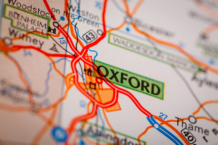 Map Photography: Oxford City on a Road Map
