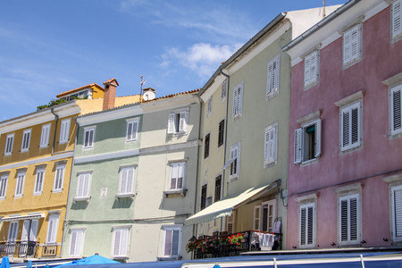 social history: Town Cres on the Island Cres, Croatia Stock Photo