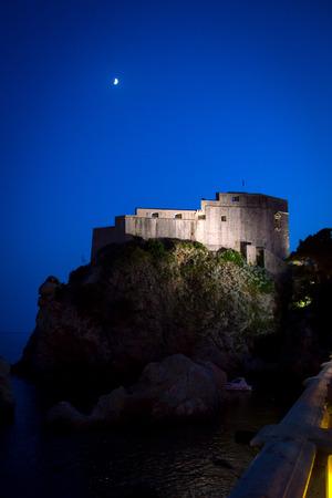 12 oclock: Fort Lovrijenac in Dubrovnik, South Dalmatia, Croatia Editorial