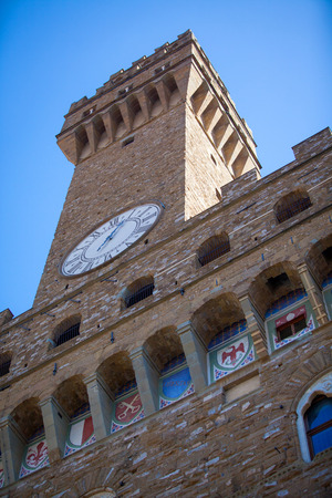 palazzo: Palazzo Vecchio in Florence in a spring day.